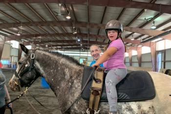 Therapeutic riding is fun on JoJo!